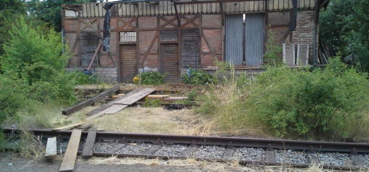 Abriss Bahnhof Großlangheim